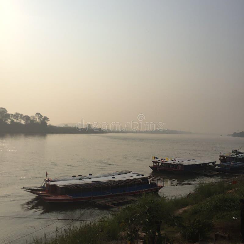 Ποταμός στο χρυσό τρίγωνο στοκ φωτογραφίες