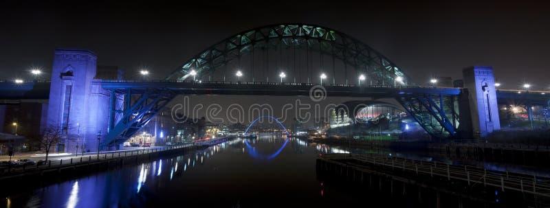ποταμός Τάιν νύχτας στοκ φωτογραφία με δικαίωμα ελεύθερης χρήσης