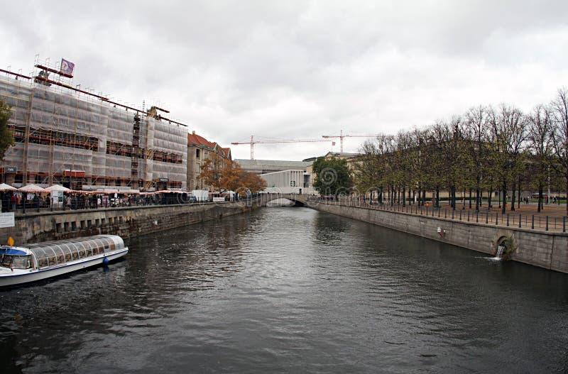 Ποταμός της Γερμανίας στο Βερολίνο 2018 στοκ εικόνα