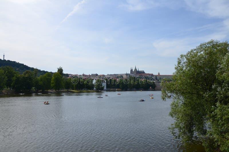 Ποταμός της Πράγας στοκ εικόνες με δικαίωμα ελεύθερης χρήσης
