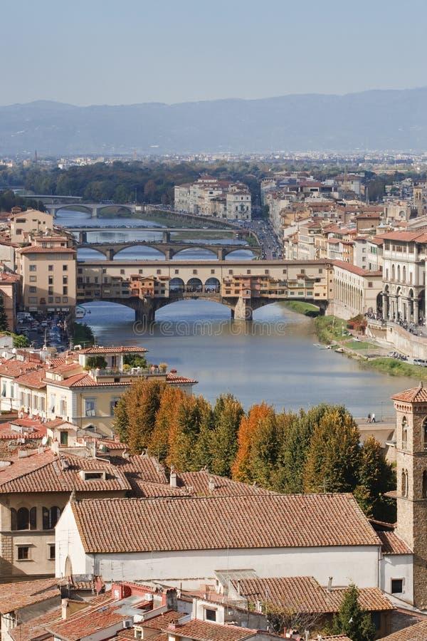 ποταμός της Φλωρεντίας arno στοκ εικόνα