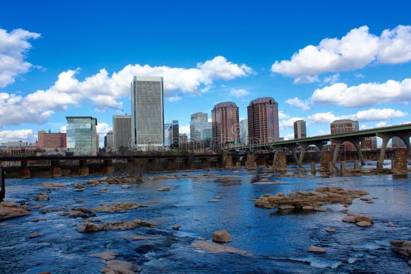 Ποταμός του θερινού James οριζόντων του Ρίτσμοντ Βιρτζίνια στοκ φωτογραφίες