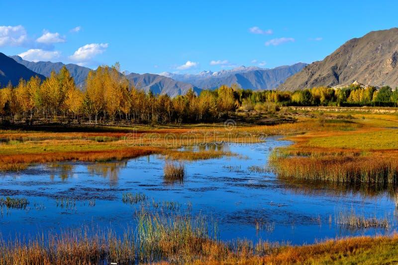 Ποταμός του Θιβέτ Lhasa στοκ φωτογραφία με δικαίωμα ελεύθερης χρήσης