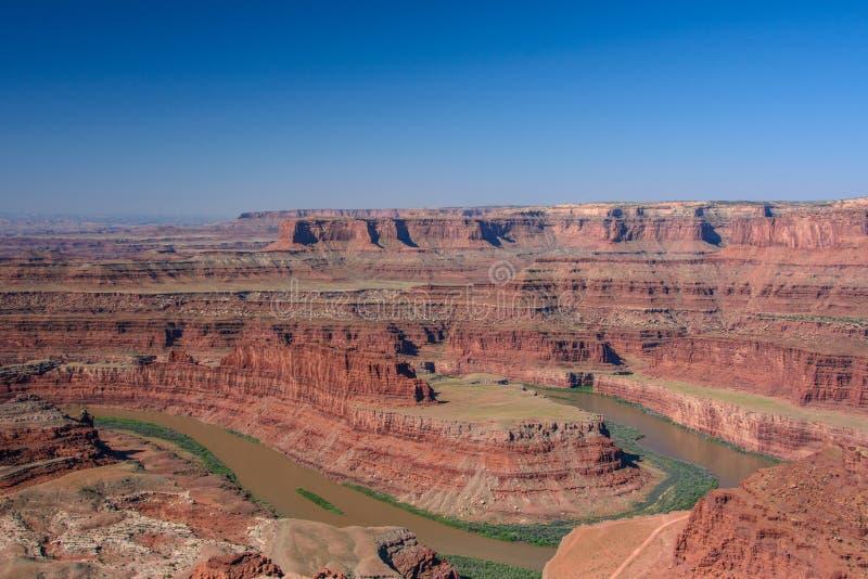 Ποταμός του Κολοράντο στο εθνικό πάρκο Canyonlands, νεκρό σημείο αλόγων, Moab Γιούτα ΗΠΑ στοκ φωτογραφίες με δικαίωμα ελεύθερης χρήσης