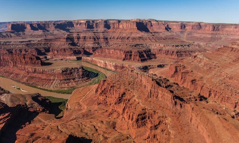 Ποταμός του Κολοράντο στο εθνικό πάρκο Canyonlands στοκ φωτογραφία με δικαίωμα ελεύθερης χρήσης