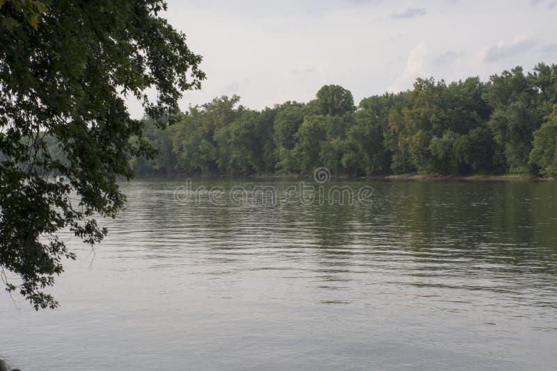 Ποταμός του Οχάιου στο νησί Buckley στοκ φωτογραφία με δικαίωμα ελεύθερης χρήσης