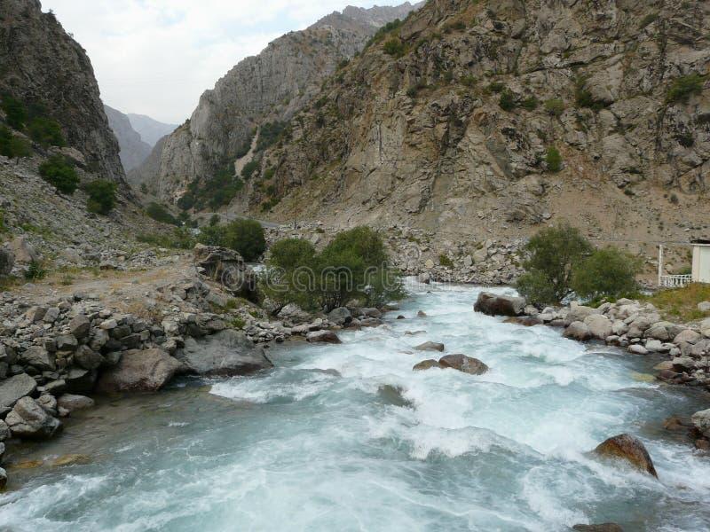 Ποταμός του Σιάμ Τατζικιστάν στοκ εικόνες