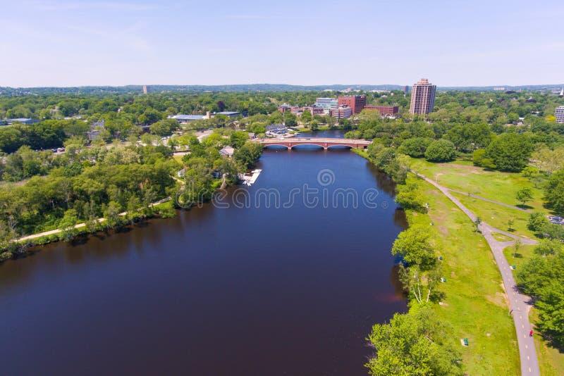 Ποταμός του Charles, Βοστώνη, Μασαχουσέτη, ΗΠΑ στοκ εικόνες με δικαίωμα ελεύθερης χρήσης