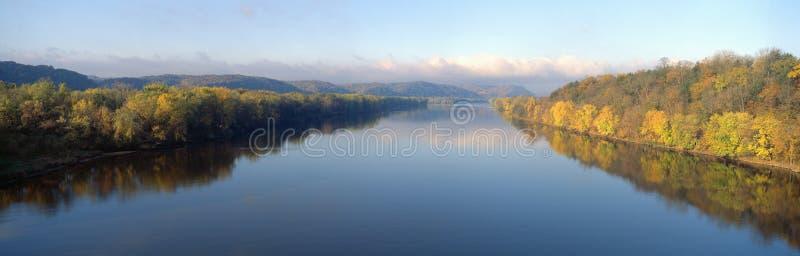 Ποταμός του Wisconsin στοκ εικόνα