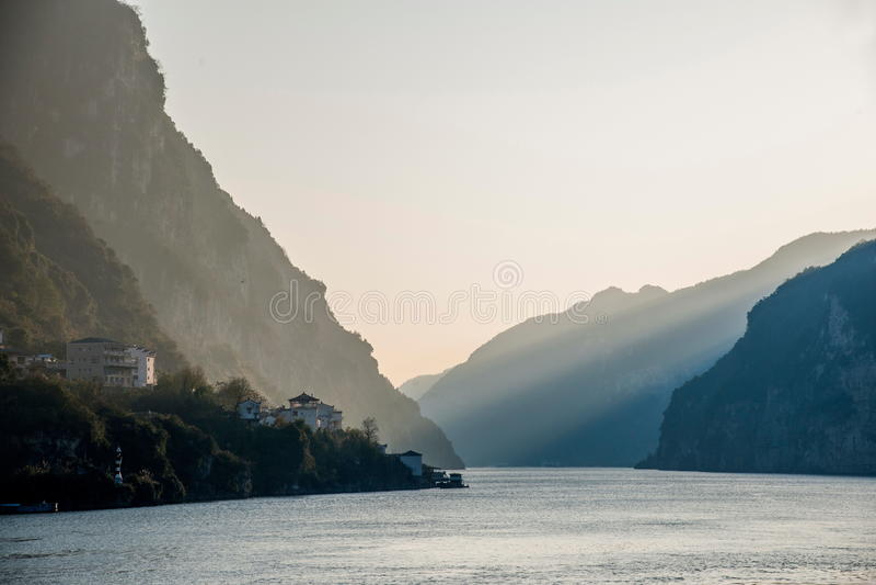 Ποταμός τρία Yangtze Yiling φαράγγι Dengying φαραγγιών στοκ φωτογραφία με δικαίωμα ελεύθερης χρήσης