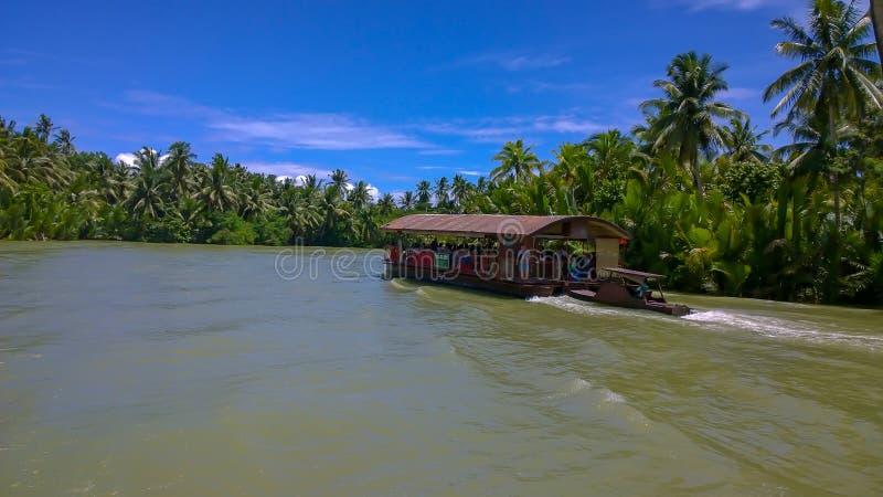 Ποταμός των Φιλιππινών Bohol loboc στοκ εικόνα
