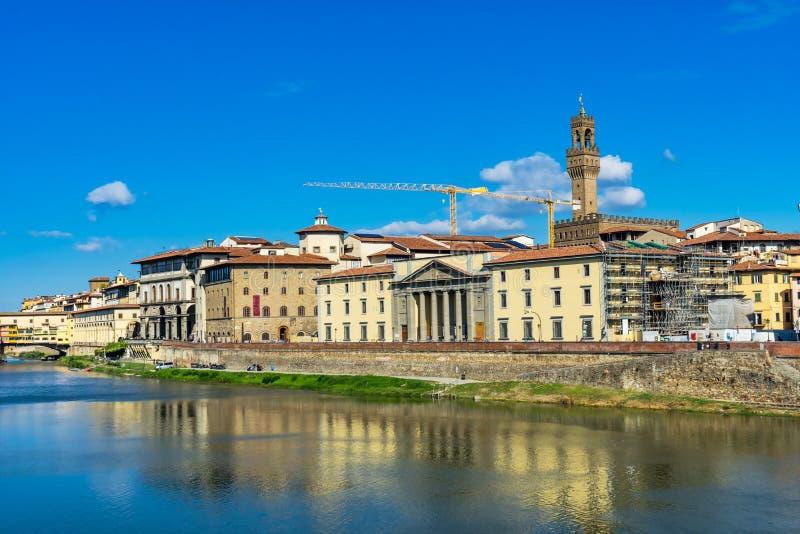 Ποταμός Φλωρεντία Τοσκάνη Ιταλία Palazzo Vecchio Arno Ponte στοκ φωτογραφία με δικαίωμα ελεύθερης χρήσης