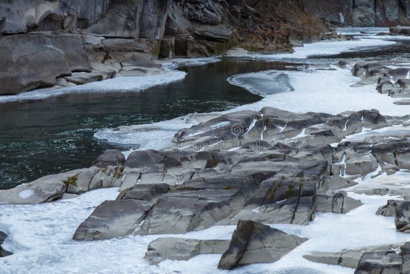 Ποταμός χειμερινών βουνών στοκ φωτογραφία με δικαίωμα ελεύθερης χρήσης