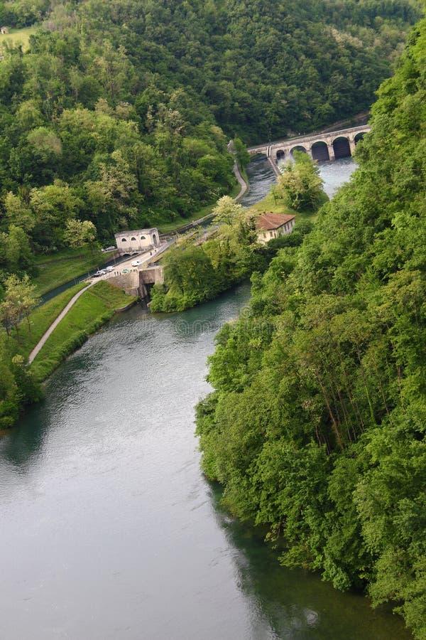 Ποταμός Adda στοκ εικόνες με δικαίωμα ελεύθερης χρήσης