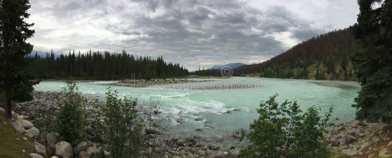 Ποταμός Athabasca, εθνικό πάρκο ιασπίδων στοκ εικόνα με δικαίωμα ελεύθερης χρήσης