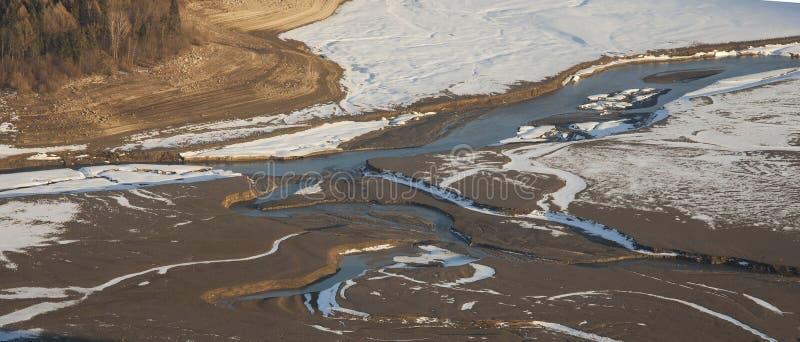 Ποταμός Bistrita στη Ρουμανία στοκ φωτογραφίες