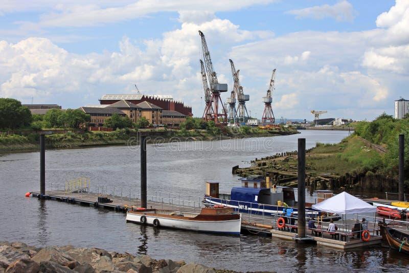 Ποταμός Clyde, Γλασκώβη στοκ εικόνες