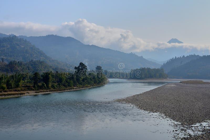Ποταμός Daparijo, Arunachal Pradesh, Ινδία Subansir στοκ φωτογραφία με δικαίωμα ελεύθερης χρήσης