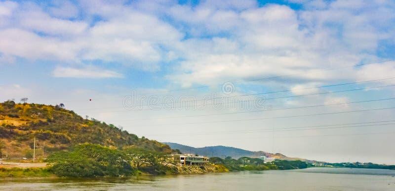 Ποταμός Daule στα περίχωρα του Guayaquil στοκ εικόνα