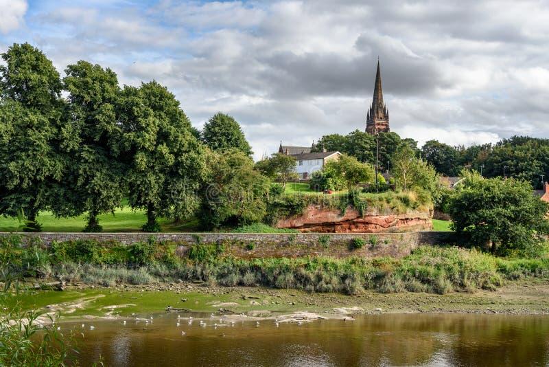 Ποταμός Dee, Τσέστερ, Αγγλία στοκ φωτογραφίες με δικαίωμα ελεύθερης χρήσης