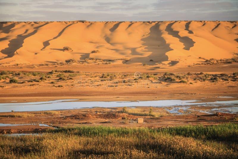 Ποταμός EL Hamra Saguia σε Laayoune στοκ εικόνες