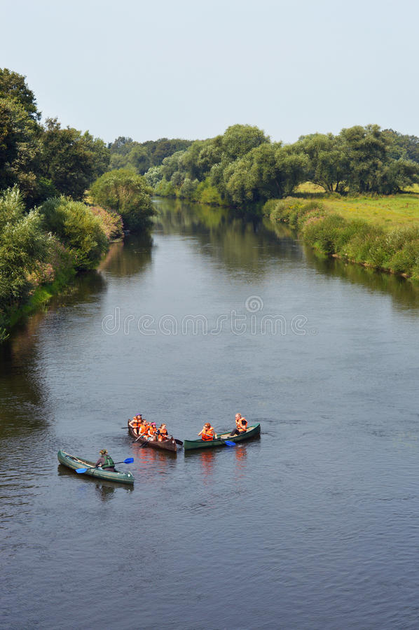 Ποταμός EMS στοκ εικόνα