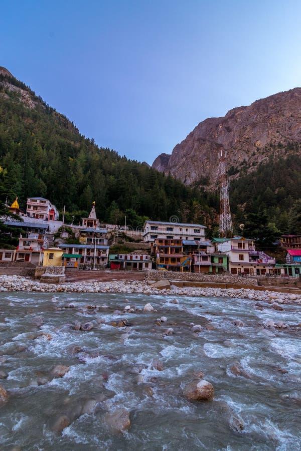 Ποταμός Ganga σε Gangotri στοκ φωτογραφίες