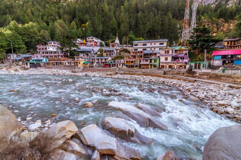 Ποταμός Ganga σε Gangotri στοκ εικόνες με δικαίωμα ελεύθερης χρήσης
