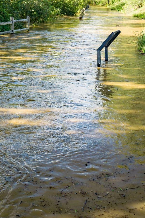 Ποταμός Greenway Roanoke - πλημμύρα του 2018 στοκ φωτογραφίες με δικαίωμα ελεύθερης χρήσης