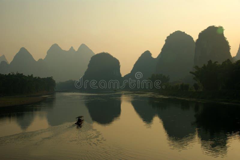 Ποταμός Guilin lijiang στην Κίνα στοκ εικόνες