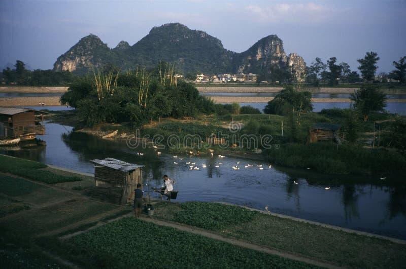 Ποταμός Guilin lijiang στην Κίνα στοκ φωτογραφία με δικαίωμα ελεύθερης χρήσης
