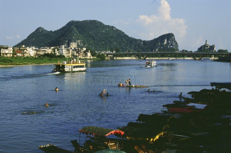 Ποταμός Guilin lijiang στην Κίνα στοκ φωτογραφίες