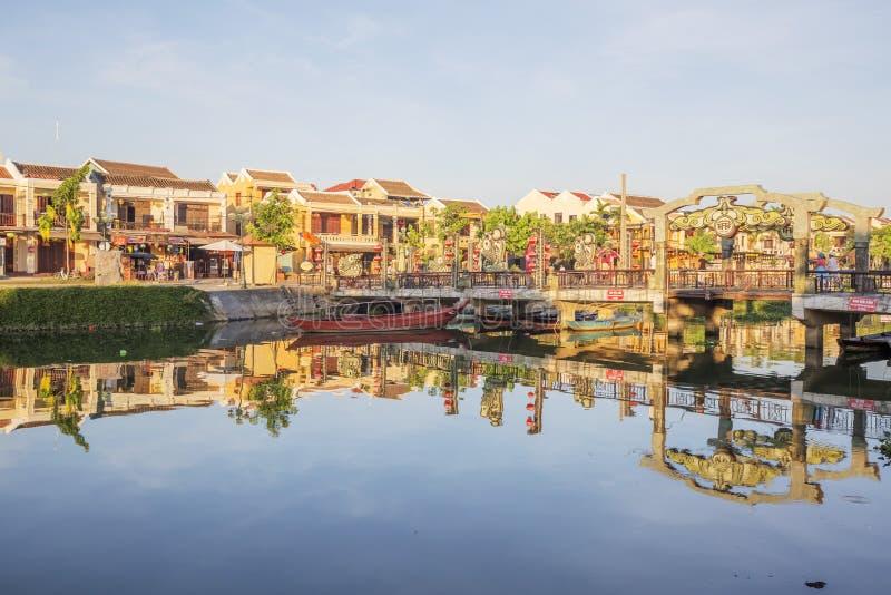 Ποταμός Hoai, Hoi, Βιετνάμ στοκ φωτογραφία