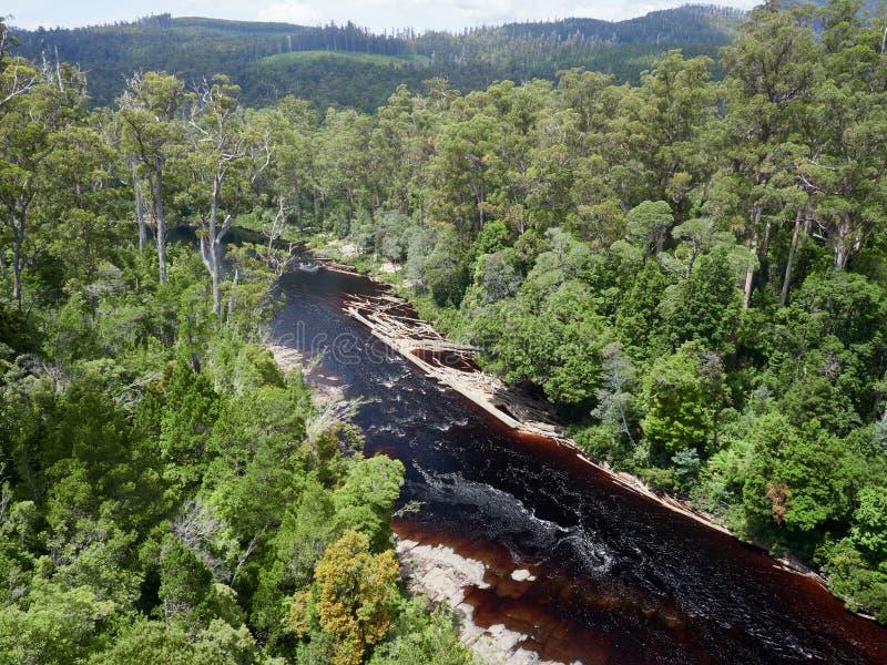 Ποταμός Huon από ψηλά στοκ φωτογραφία με δικαίωμα ελεύθερης χρήσης
