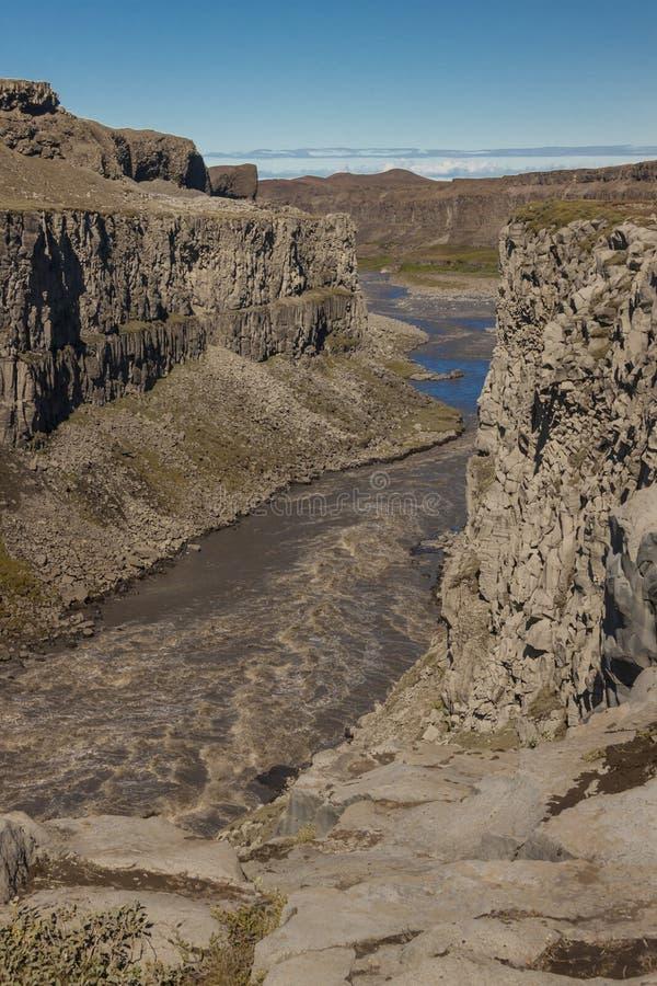 Ποταμός Jokulsa ένα φαράγγι Fjollum - Ισλανδία. στοκ εικόνα με δικαίωμα ελεύθερης χρήσης