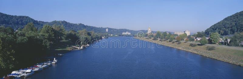 Ποταμός Kanawha, στοκ φωτογραφία
