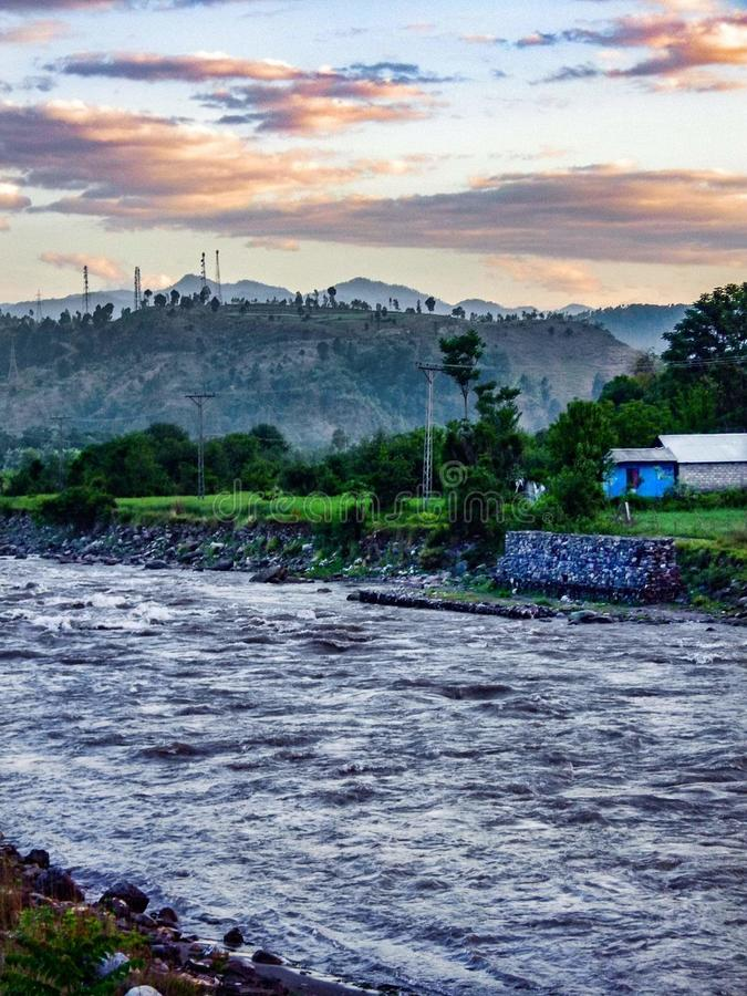 Ποταμός Kunhar στοκ φωτογραφίες με δικαίωμα ελεύθερης χρήσης
