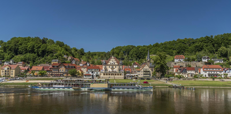 Ποταμός Labe ή Elbe σε Stadt Wehlen στοκ φωτογραφία με δικαίωμα ελεύθερης χρήσης
