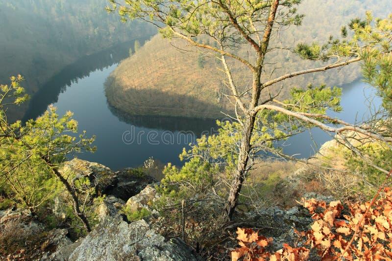 Ποταμός Moldau - άποψη Maj στοκ φωτογραφία με δικαίωμα ελεύθερης χρήσης