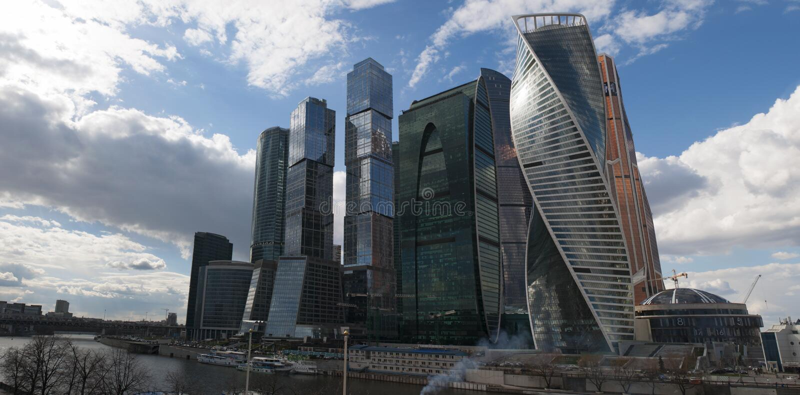 Ποταμός Moskva, Μόσχα, ρωσική ομοσπονδιακή πόλη, Ρωσική Ομοσπονδία, Ρωσία στοκ εικόνα με δικαίωμα ελεύθερης χρήσης