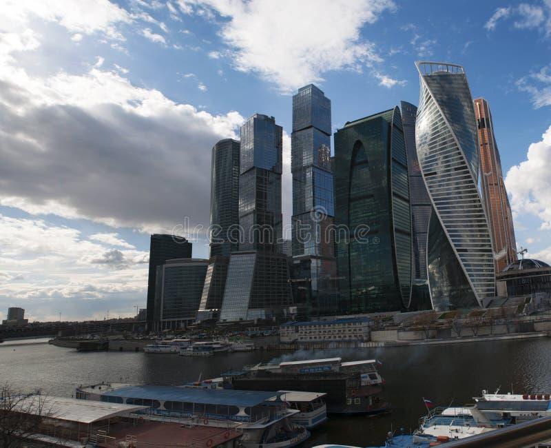 Ποταμός Moskva, περιοχή Presnensky, Μόσχα, ρωσική ομοσπονδιακή πόλη, Ρωσική Ομοσπονδία, Ρωσία στοκ εικόνες