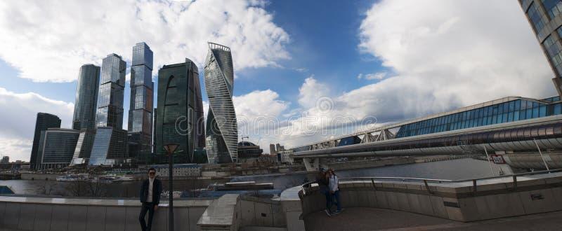 Ποταμός Moskva, περιοχή Presnensky, Μόσχα, ρωσική ομοσπονδιακή πόλη, Ρωσική Ομοσπονδία, Ρωσία στοκ φωτογραφίες με δικαίωμα ελεύθερης χρήσης