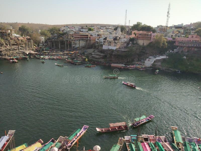 Ποταμός Narmada Omkareshwar στοκ εικόνα με δικαίωμα ελεύθερης χρήσης