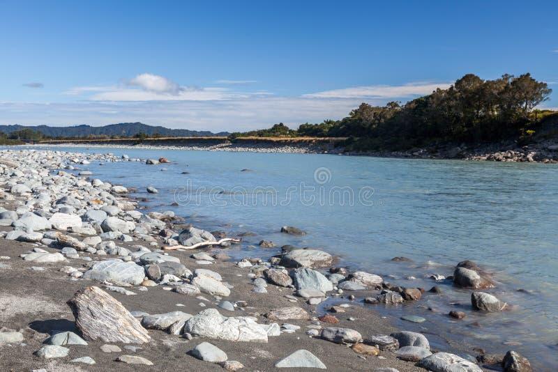 Ποταμός Okarito στοκ φωτογραφίες