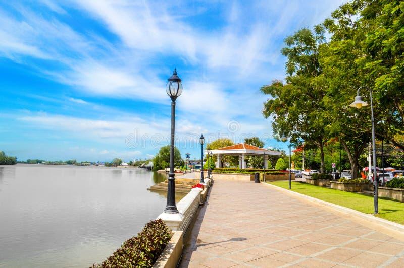 ποταμός Pakong κτυπήματος προκυμαιών στοκ φωτογραφία