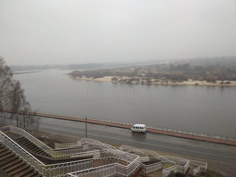 Ποταμός Pripyat στην πόλη Mozyr στοκ εικόνες