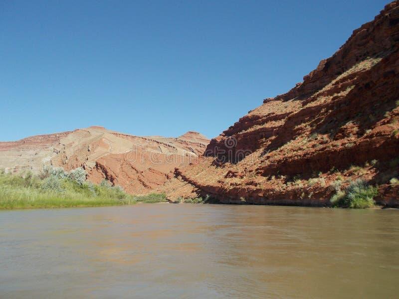Ποταμός Raplee Anticline του San Juan στοκ φωτογραφία με δικαίωμα ελεύθερης χρήσης