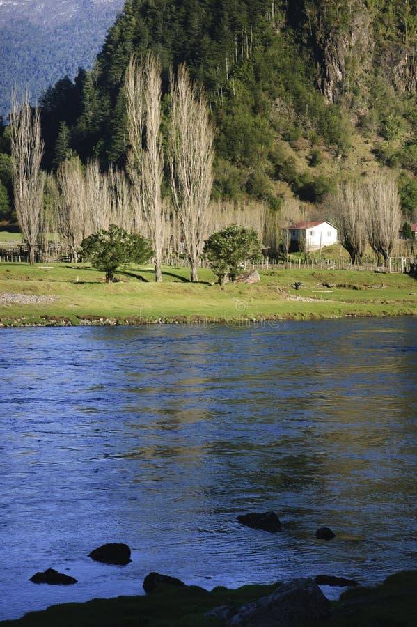 Ποταμός Simpson, Χιλή στοκ εικόνες