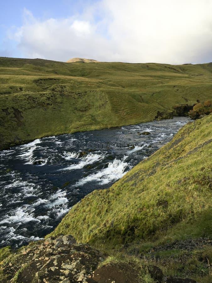 Ποταμός Skoga στη νότια Ισλανδία στοκ φωτογραφία