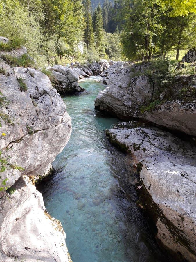 Ποταμός SoÄ  α στοκ εικόνες